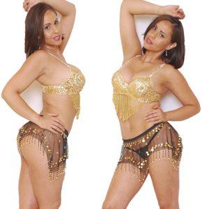 Disfraz De Arabe En Sexy Conjunto Dorado