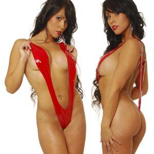 Body De Vinilo Diseño En V Rojo