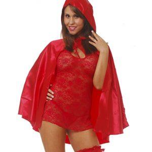 Disfraz De Caperucita Roja En Version Vestido