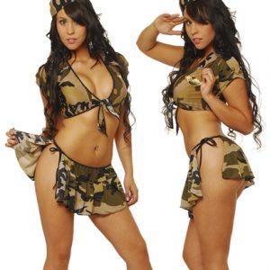 Disfraz De Militar En Conjunto Con Peto Amarrable