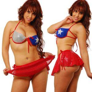 Disfraz De Chilena En Conjunto Con Push Up