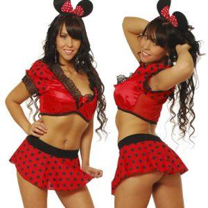 Disfraz De Sexy Ratoncita Minnie En Conjunto