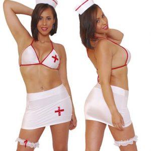 Disfraz De Enfermera En Conjunto Con Falda
