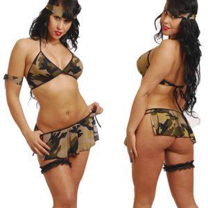 Disfraz De Militar En Sexy Mini Conjunto