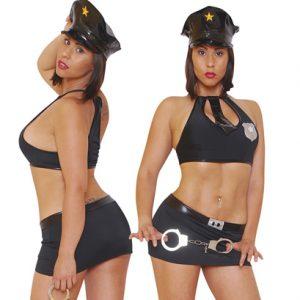 Disfraz De Policia En Conjunto Negro