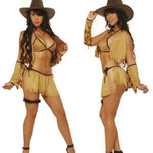 Disfraz Atrevido De Sexy Vaquera En Conjunto