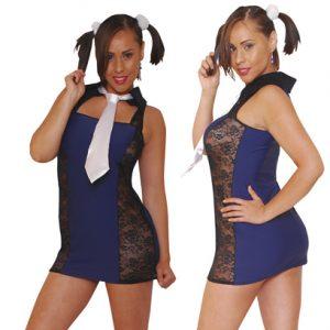 Disfraz De Colegiala En Vestido Estilo Jumper