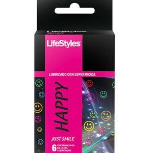 6 Unidades Preservativos LifeStyles Happy