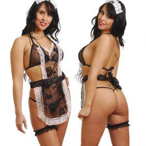 Disfraz De Mucama En Conjunto Con Delantal