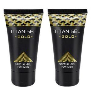 Potenciador Sexual Masculino Titan Gel Gold 2 Unidades