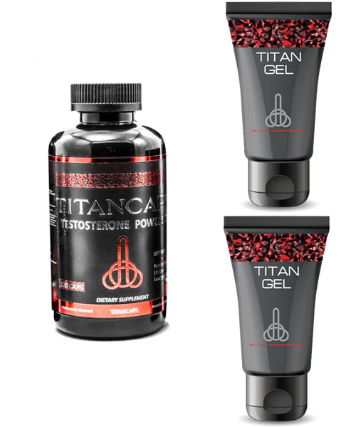 Pack Cápsulas Titan + 2 Titan Gel Ruso