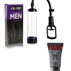 Bomba De Vacío Penis Pump + Titan Gel