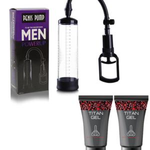 Bomba De Vacío Penis Pump + 2 Titan Gel