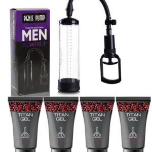 Bomba De Vacío Penis Pump + 4 Titan Gel