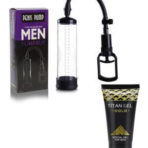 Bomba De Vacío Penis Pump + Titan Gel Gold