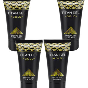 Potenciador Sexual Masculino Titan Gel Gold 4 Unidades