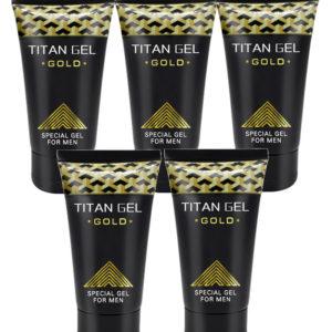 Potenciador Sexual Masculino Titan Gel Gold 5 Unidades
