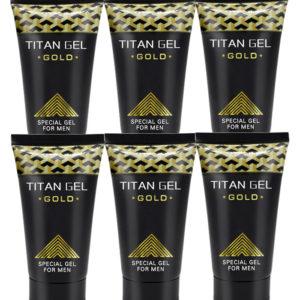 Potenciador Sexual Masculino Titan Gel Gold 6 Unidades