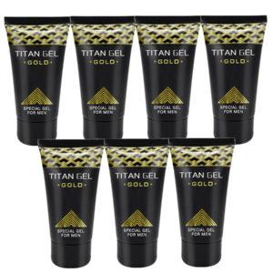 Potenciador Sexual Masculino Titan Gel Gold 7 Unidades
