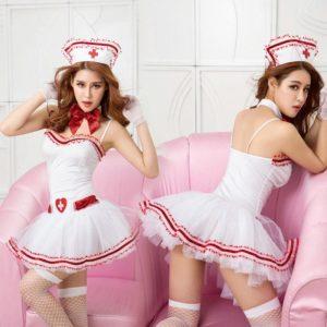 Disfraz De Enfermera En Vestido Con Accesorios