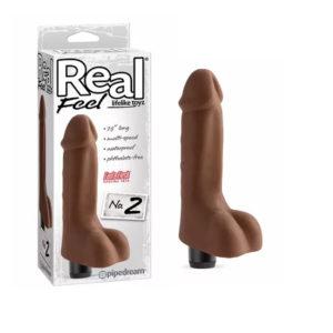 Vibrador Real Feel 2 Fanta Flesh Chocolate