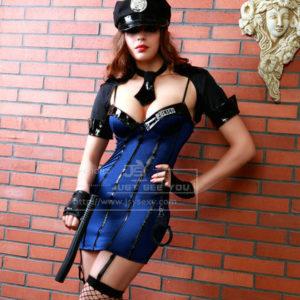 Disfraz De Policia Vestido Sexy En Azul