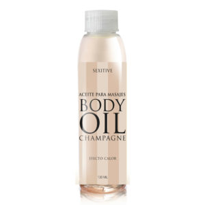 Body Oil Efecto Calor Sabor Champagne 130 ml