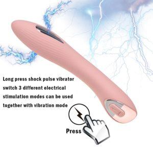 Vibrador Con Estimulador Shock Electrico